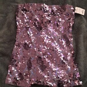 Express sequined tube top